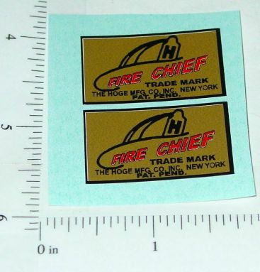 Hoge Siren Fire Chief Replacement Stickers Main Image