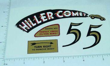 Hiller Comet Tether Car Replacement Sticker Set Main Image
