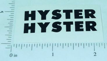 Vintage Hyster Druge Lumber Carrier Stickers Main Image