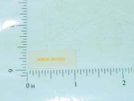 "John Deere 5/8"" Yellow Block Letter Sticker 1:64"