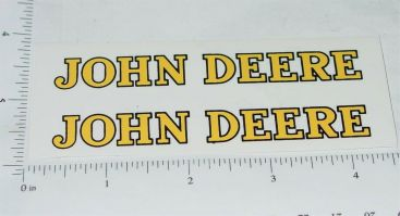 "John Deere Yellow/Black 4"" Text Stickers Stickers Main Image"
