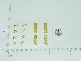 John Deere 40 50 60 70 Tractor Yellow & Black Numbers Sticker Set