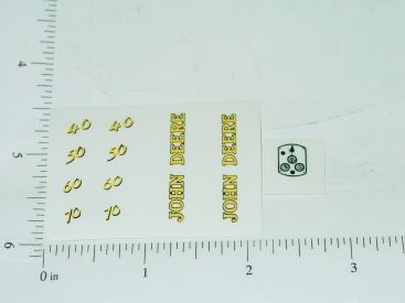 John Deere 40 50 60 70 Tractor Yellow & Black Numbers Sticker Set Main Image