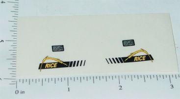 John Deere Rice Combine Replacement Stickers Main Image