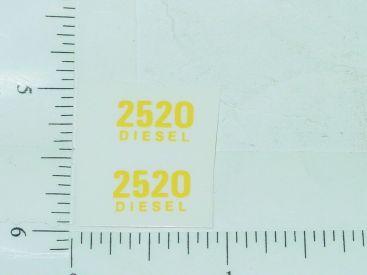Pair John Deere 2520 Diesel Model Number Stickers Main Image