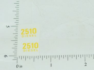 John Deere 2510 Diesel Model Number Stickers Main Image