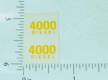 John Deere 4000 Diesel Model Number Stickers Main Image