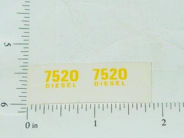John Deere 7520 Diesel Model Number Stickers Main Image