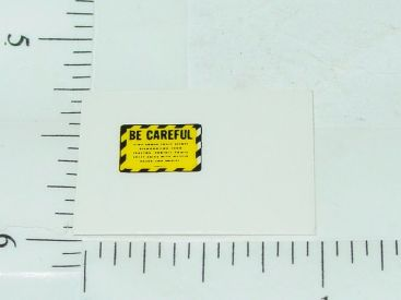 John Deere Yellow & Black Be Careful Sticker Main Image