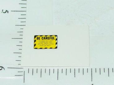 John Deere Yellow & Black Be Careful Sticker Main Image