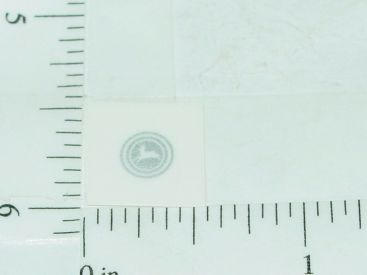 John Deere White & Silver Horn Button Sticker Main Image