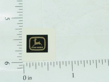John Deere Black & Silver Two Legged Deer Sticker Main Image