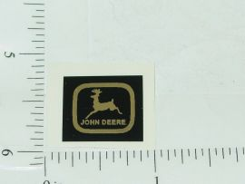 John Deere Black over Chrome Two Legged Deer Logo Stickers