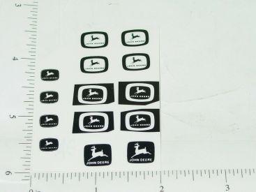 John Deere Logos in Black Sticker Set Main Image
