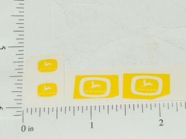 John Deere Logos in Yellow Sticker Set Main Image