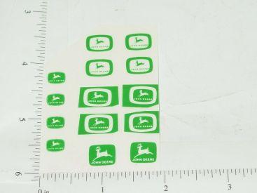 John Deere Logos in Green Sticker Set Main Image