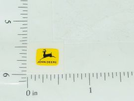 John Deere Black on Yellow Two Legged Deer Sticker