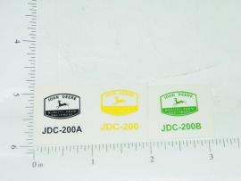 John Deere Trio of Farm Equipment Stickers