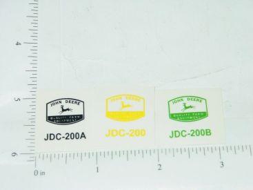 John Deere Trio of Farm Equipment Stickers Main Image