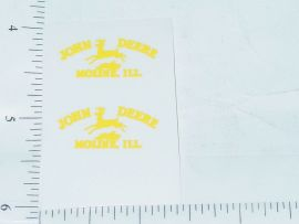 John Deere Yellow Moline, Ill Four Legged Deer Logo Sticker