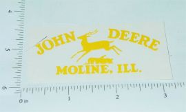John Deere Yellow Pre-1936 Jumping Deere Logo Sticker