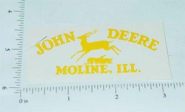 John Deere Yellow Pre-1936 Jumping Deere Logo Sticker Main Image