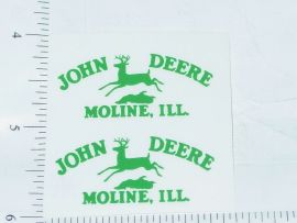John Deere Green Moline, Ill Four Legged Deer Logo Sticker