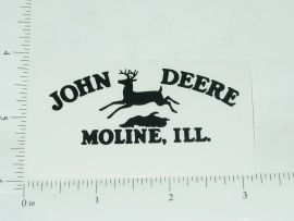 John Deere Black Four Legged Jumping Deere Logo Sticker