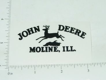 John Deere Black Four Legged Jumping Deere Logo Sticker Main Image