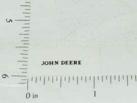 John Deere Name Logo Sticker Black