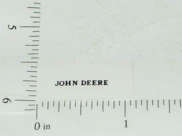 John Deere Name Logo Sticker Black Main Image