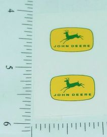 "John Deere 5/8"" Yellow/Green 4 Legged Deer Logo Stickers"