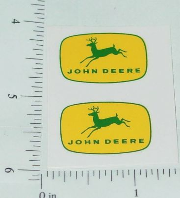 "John Deere 1"" Yellow/Green 4 Legged Deer Logo Stickers Main Image"