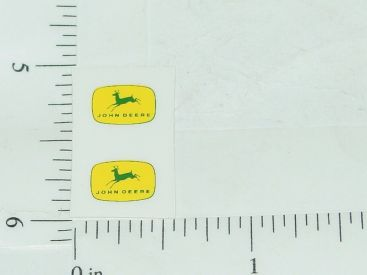 John Deere Green & Yellow Four Legged Deer Logo Sticker Main Image