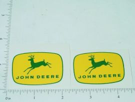 "John Deere 1 3/4"" Yellow/Green 4 Legged Deer Logo Sticker"