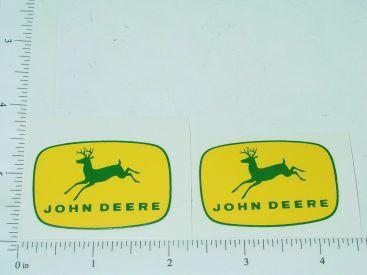 "John Deere 1 3/4"" Yellow/Green 4 Legged Deer Logo Sticker Main Image"