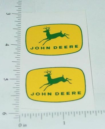 "John Deere 1 3/8"" Yellow/Green 4 Legged Deer Logo Stickers Main Image"