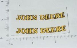 "John Deere Yellow/Black 2.25"" Text Stickers"