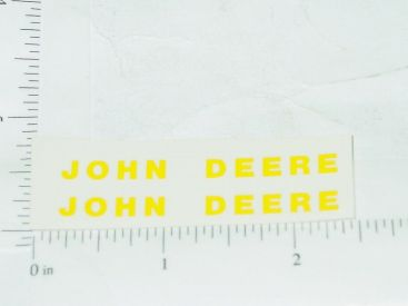 John Deere Yellow Block Name Stickers Main Image