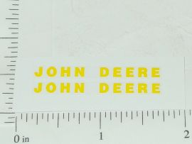 "John Deere 1.5"" Yellow Block Name Stickers"