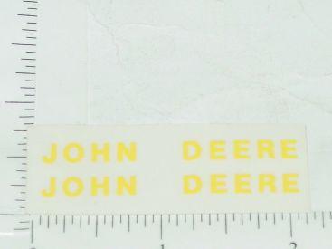 "John Deere 2"" x 1/4"" Yellow Block Name Stickers Main Image"