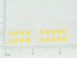 "John Deere 2""-3/16"" Yellow Block Name Stickers"