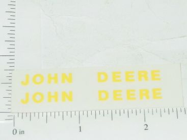 "John Deere 2""-3/16"" Yellow Block Name Stickers Main Image"