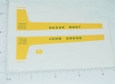 John Deere 1:16 730 Diesel Tractor Replacement Stickers Main Image