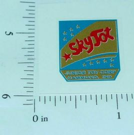 Junior Toy Co. Sky Tot Tricycle Post Sticker