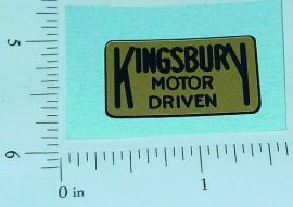 Kingsbury Motor Driven Toys Replacement Sticker