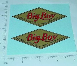 Kelmet Big Boy Trucks Replacement Stickers