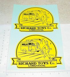 Richard Toys Ride On Milk Truck Stickers