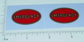 Keystone Trucks Emergency Oval Stickers