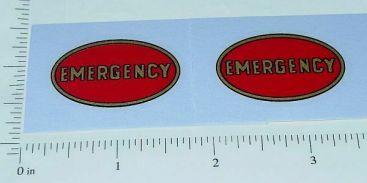 Keystone Trucks Emergency Oval Stickers Main Image